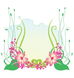 funky flowers vector image vector image