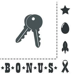 Keys sign icon unlock tool button vector