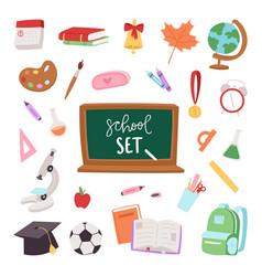 school supplies symbols isolated equipment vector image