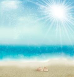 Vintage beautiful seaside background vector image