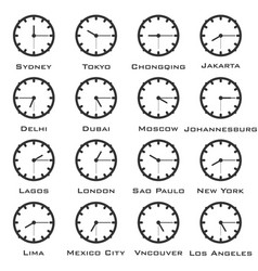 a minimalistic image of the clock with the time vector image vector image