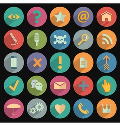 Different flat Icons for Web and Mobile vector image vector image