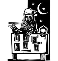 Gypsy Tarot Reading Simple vector image