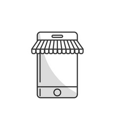 line technology smartphone to business information vector image