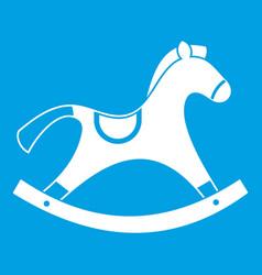 Rocking horse icon white vector
