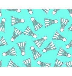 Shuttlecock pattern vector image