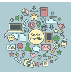 Social Media Icons Set Network Symbols vector image vector image