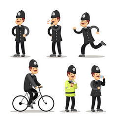 english policeman cartoon police officer vector image vector image