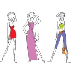 fashion girl vector image