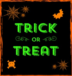 Halloween icons and Trick or Treat text vector image