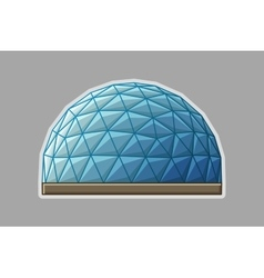 Icon geodesic dome flat vector