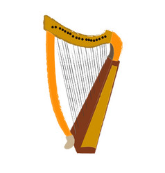 isolated harp vector image