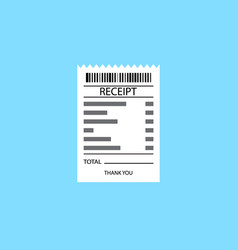 receipt icon vector image vector image