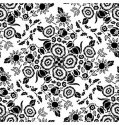 retro floral tile vector image