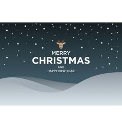 Vintage Christmas card with Greeting text and vector image vector image
