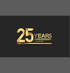 25 years anniversary celebration with elegant vector