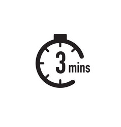 3 minutes timer stopwatch or countdown icon time vector