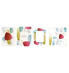 abstract minimalist liquid shape blob background vector image