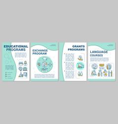 Academic education brochure template vector
