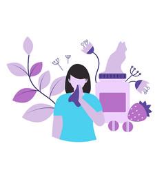 Allergy concept allergy concept vector