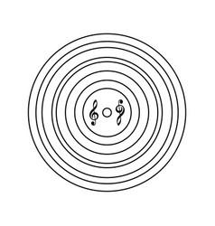 analogue record icon vector image