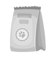 animal feed packagepet shop single icon in black vector image