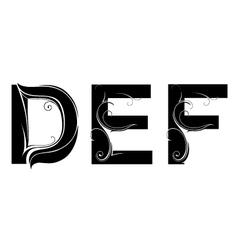 Artistic font type vector