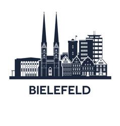 bielefeld skyline emblem vector image