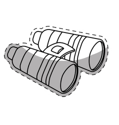 Binoculars travel or military icon image vector