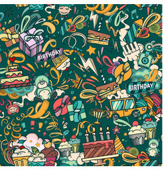 birthaday seamless pattern vector image