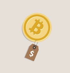 bit-coin price value currency coin exchange rate vector image