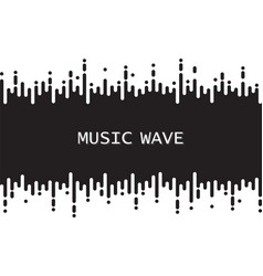 Black pulse music player on white audio vector