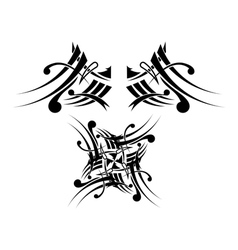 Black-white Tribal Tattoo Design vector