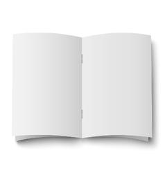 Blank white opened double spread magazine vector