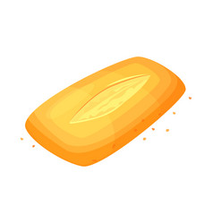 bread ciabatta icon bread loaf icon vector image