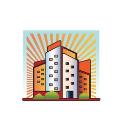 Buildings logo vector image