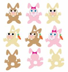 bunnies vector image