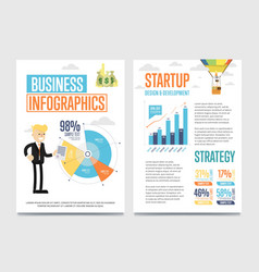 business infographics banner set with chart vector image