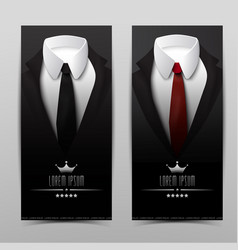 Business suit vertical banners vector