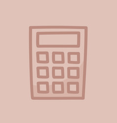 calculator for count hand drawn outline doodle vector image