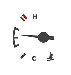Car engine temperature sensor vector