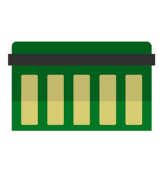 Circuit board technology icon isolated vector