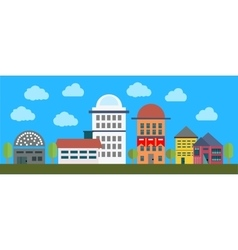 cityscape with buildings vector image