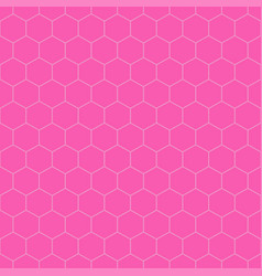 colorful seamless hexagonal patterns - simple grid vector image