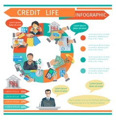 Credit Life Infographics vector