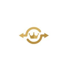 crown share logo icon design vector image