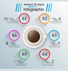 cup of coffee tea icon on the white background vector image