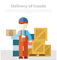 Delivery of Goods vector image
