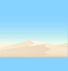 Desert white sand dunes egyptian landscape vector