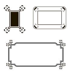 different frame set vector image